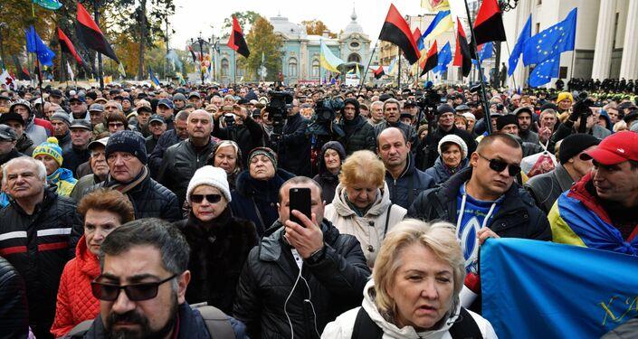 Rassemblement devant la Rada d'Ukraine