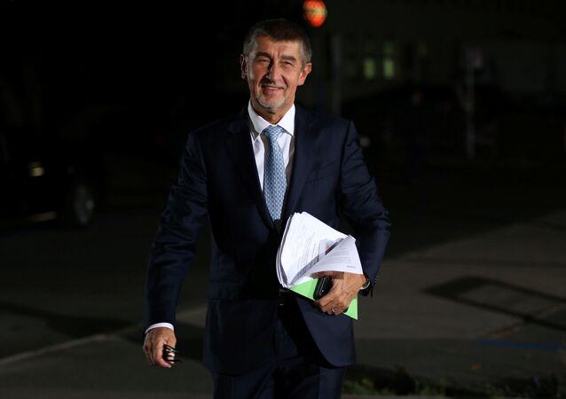 Le chef du parti populiste Action des citoyens mécontents (ANO) Andrej Babis