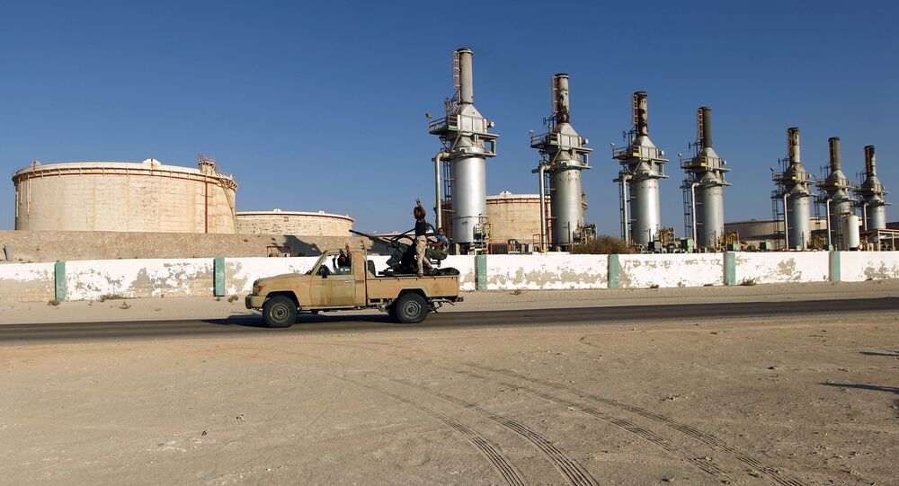 Un terminal de pétrole en Libye, archives
