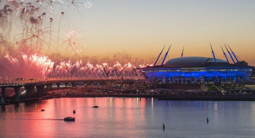 Le stade Zenit Arena de Saint-Pétersbourg