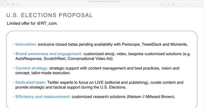 Voici des diapositives extraites de la présentation que Twitter a faite à RT