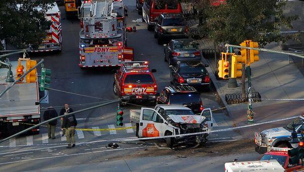 Les services d'urgence sur les lieux de la fusillade à New York (31 octobre 2017) - Sputnik France