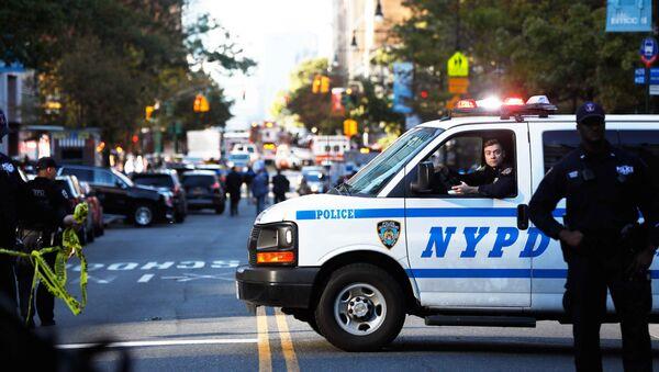Police block off the street after a shooting incident in New York City, U.S. October 31, 2017. - Sputnik France