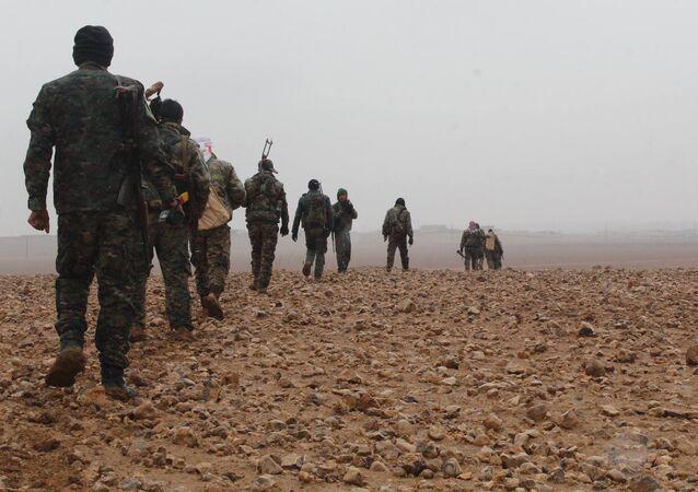 Les Forces démocratique syrienne dans la région de Deir ez-Zor