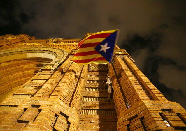 Drapeau indépendantiste, Barcelone