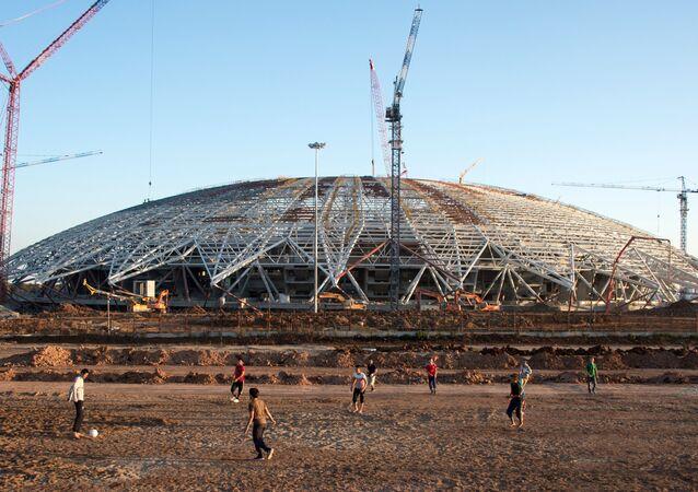 Le stade Samara Arena en chantier