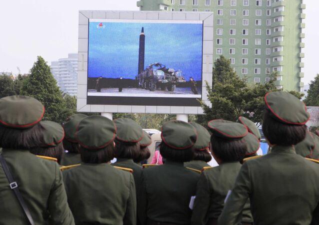 Lancement d'un missile en Corée du Nord