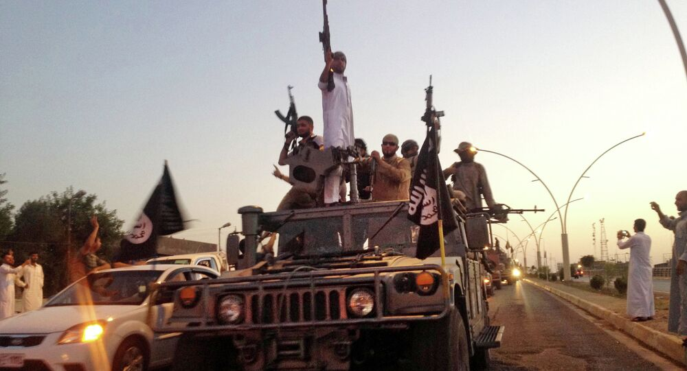 Terroristes de Daech à Mossoul. Archive
