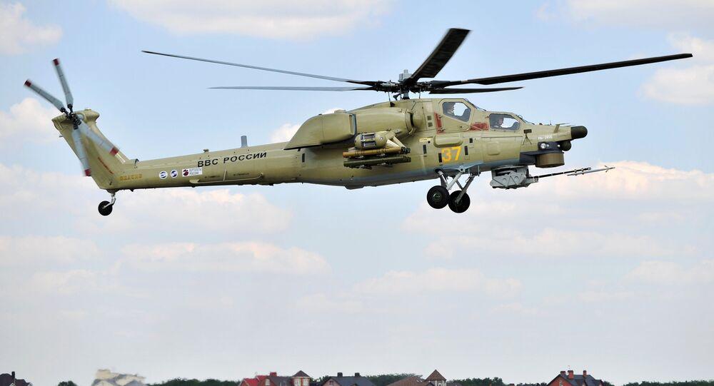 Premier vol de démonstration de l'hélicoptère Mi-28UB