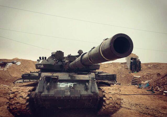 L'armée syrienne dans le nord de la province de Hama