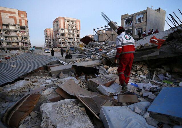 la ville de Sarpol-e-Zahab après le séisme