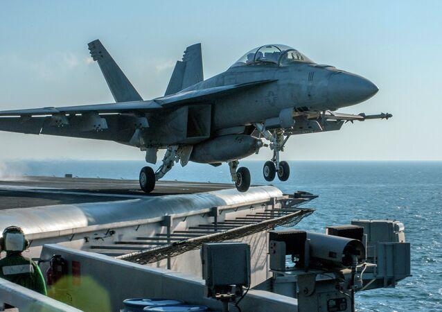 L'avion de la coalition internationale anti-Daech