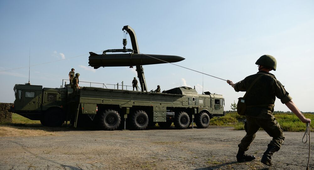 Un système de missiles russes Iskander