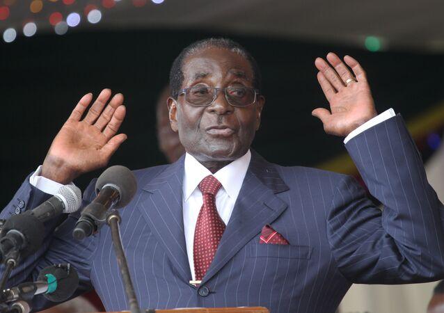 Le Président zimbabwéen Robert Mugabe