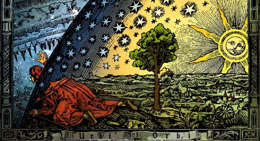 Universum par Camille Flammarion. Gravure sur bois de Flammarion, Paris, 1888