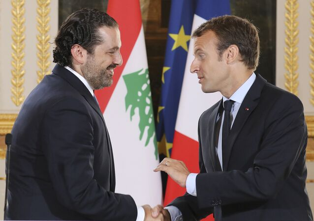 Emmanuel Macron et Saad Hariri. Photo d'archive