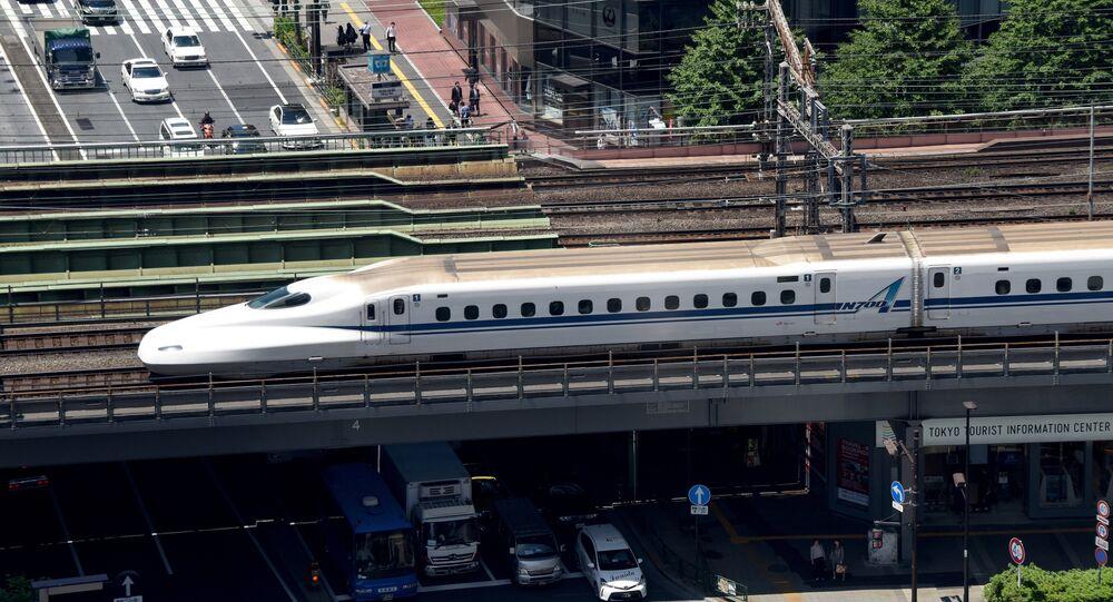 Un train à Tokyo