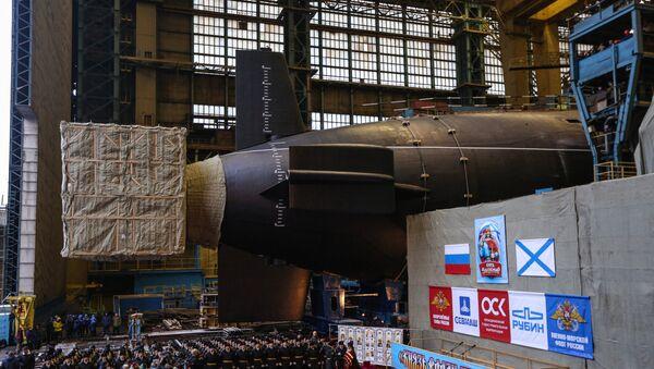 Спуск на воду атомного подводного крейсера Князь Владимир в Северодвинске - Sputnik France