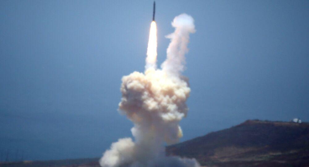 Un missile intercontinental terrestre. Photo d'archive