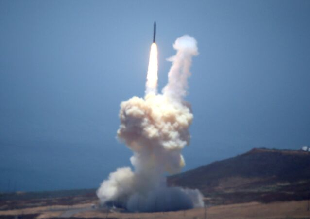 Un missile intercontinental terrestre. Photo d'archive
