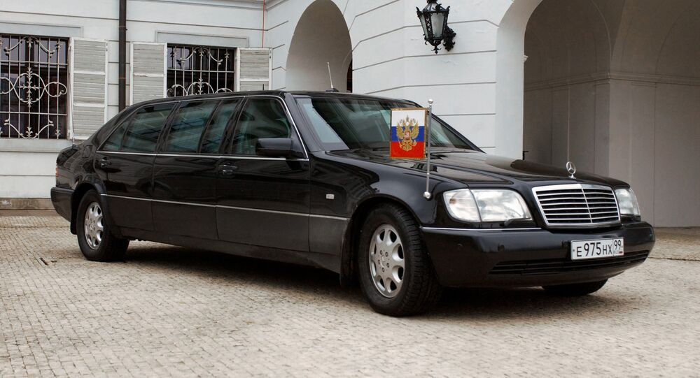 Le véhicule de Vladimir Poutine
