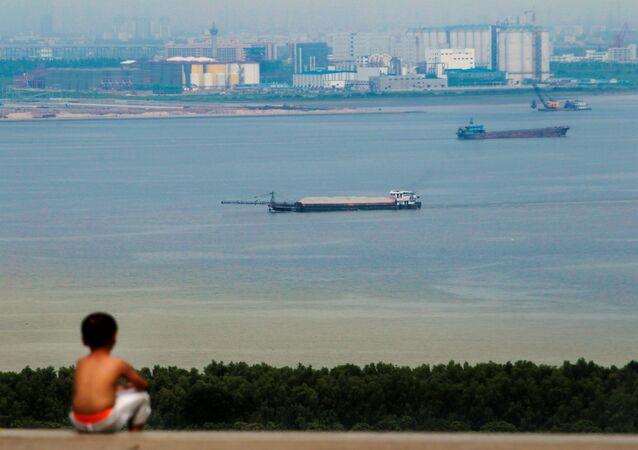 Le fleuve Zhu Jiang, à Guanghzou