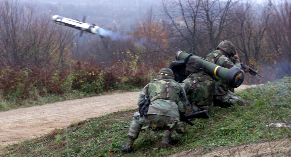 Le lance-missiles antichar américain Javelin
