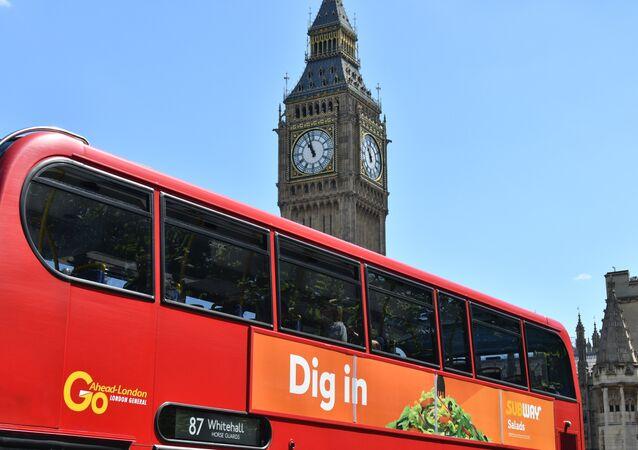 Un bus rouge de Londres