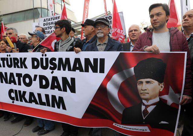 Protestations contre l'exercice de l'Otan en Norvège, Ankara