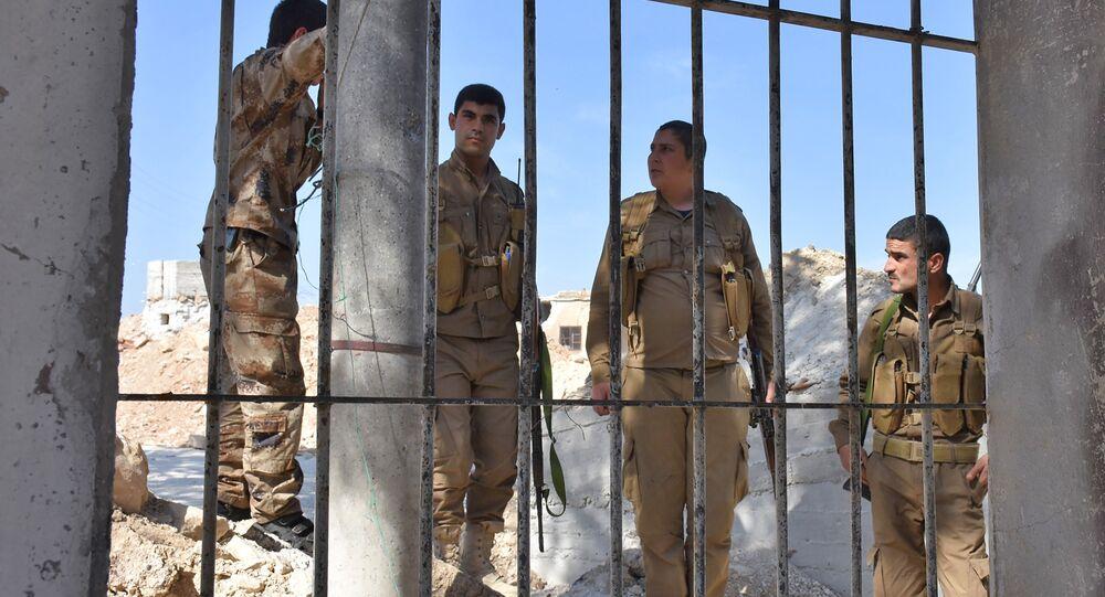 Combattants kurdes à Afrin, Syrie