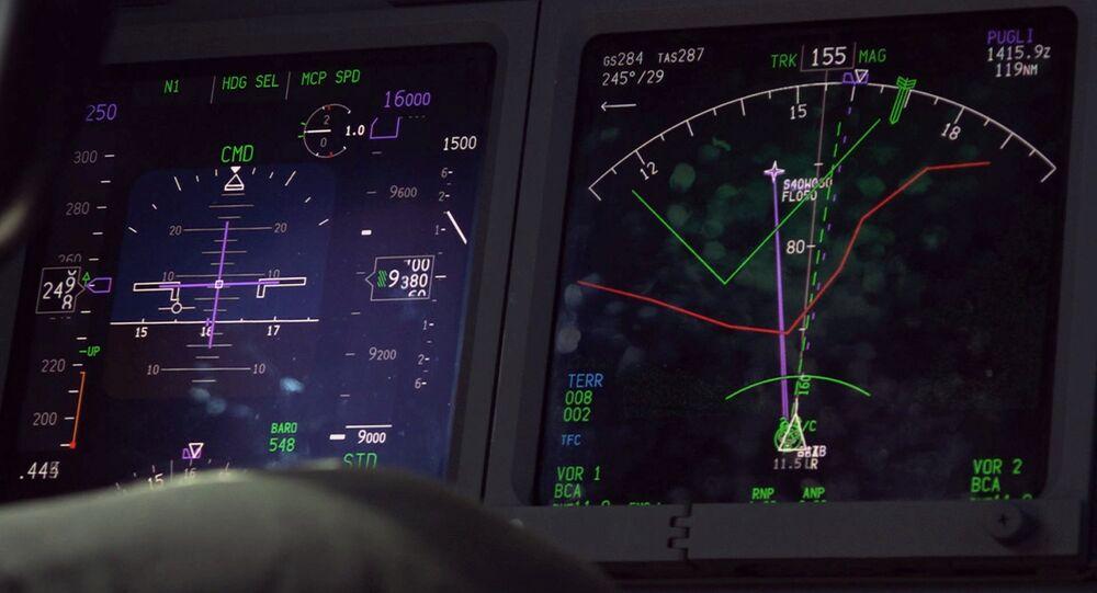 Un radar dans l'un des avions qui participent à la recherche du sous-marin ARA San Juan