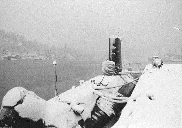 La Minerve en escale à Bergen en 1962.