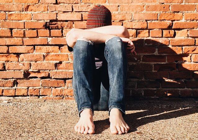 Un adolescente triste
