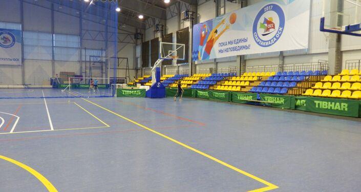 Le Centre de sport Évolution en Crimé. Une salle multifonctionnel