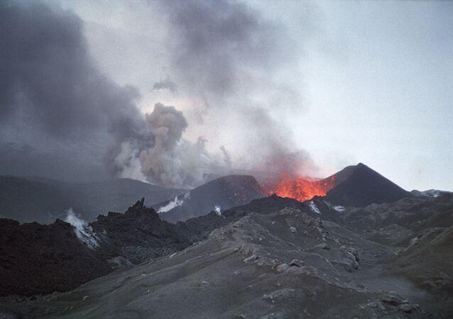 Un volcan au Kamtchatka