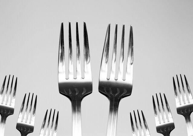 Des fourchettes. Image d'illustration