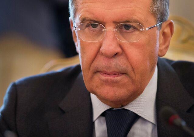 Le ministre russe des Affaires étrangères, Sergueï Lavrov