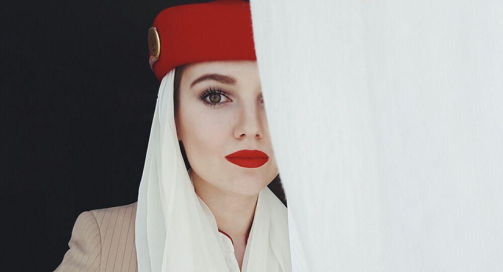 Daria, hôtesse de l'air russe
