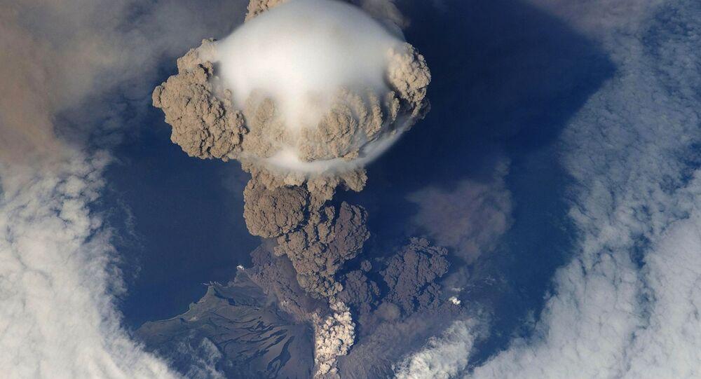 Gaz volcaniques, photo d'illustration