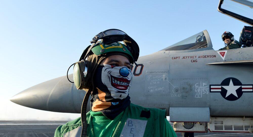 Un avion An F/A-18E Super Hornet (image d'illustration)