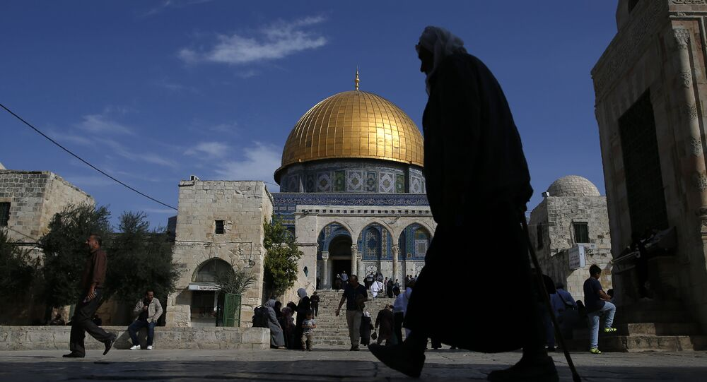 La mosquée Al-Aqsa et le dôme du Rocher à Jérusalem