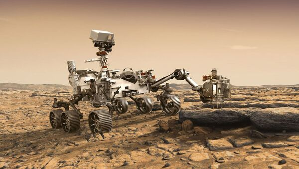 Так художник представил марсоход НАСА Марс-2020 - Sputnik France