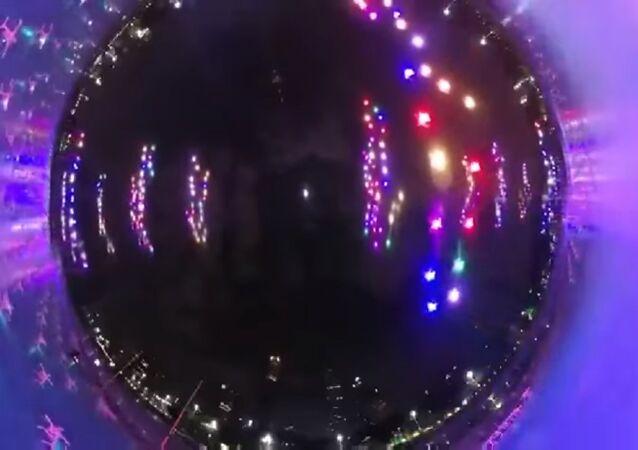 Une illumination de centaines de drones dans le ciel de Guangzhou bat le record mondial