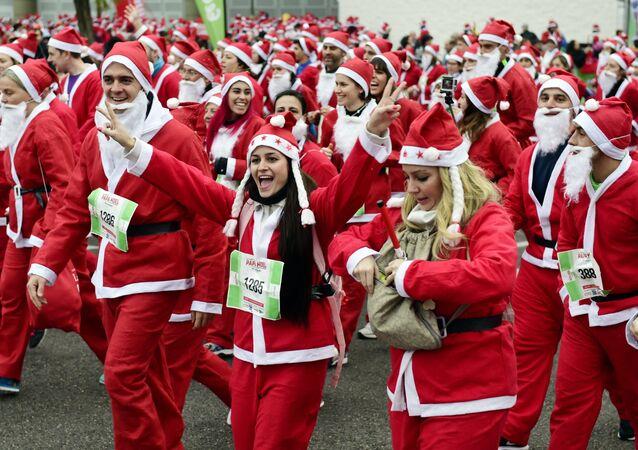 Une course de pères Noël (photo d'archives)