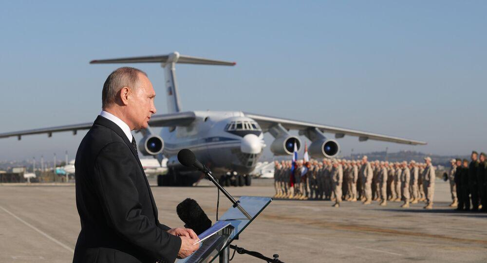 Vladimir Poutine à Hmeimim