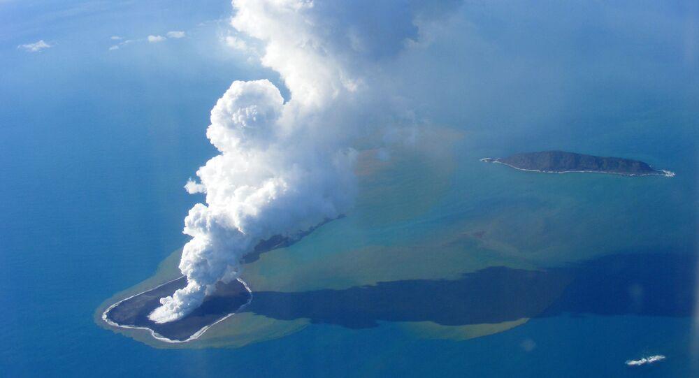 L'île Hunga Tonga-Hunga Ha'apai dans le Pacifique