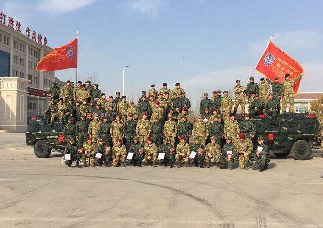 Manœuvres antiterroristes russo-chinoises