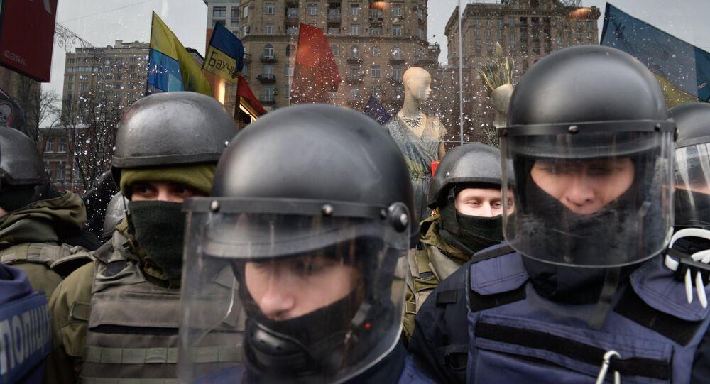 Forces de l'ordre à Kiev