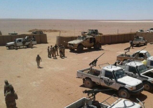 La base américaine située près d'Al-Tanf en Syrie (archive photo)