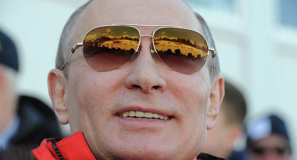 В.Путин посетил олимпийские соревнования по лыжным гонкам в Сочи